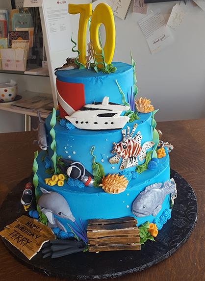 Superb Eating Dessert First At Little Rocks Blue Cake Company Ay Magazine Funny Birthday Cards Online Benoljebrpdamsfinfo
